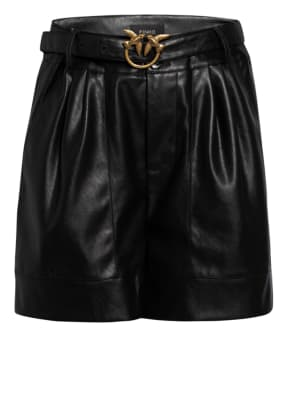 PINKO Shorts in Lederoptik