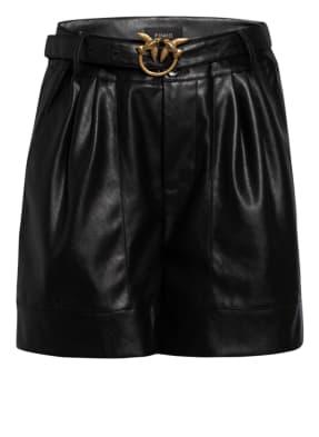 PINKO Shorts in Lederoptik