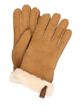 UGG Lederhandschuhe SHORTY mit Echtfell