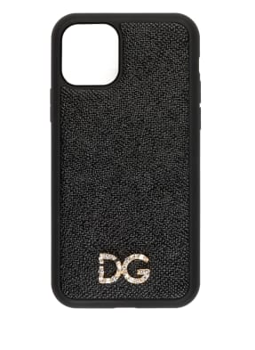 DOLCE&GABBANA Smartphone-Hülle mit Schmucksteinbesatz