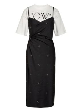 OFF-WHITE Kleid mit Drapage