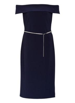 LAUREN RALPH LAUREN Off-Shoulder-Kleid mit Schmucksteinbesatz