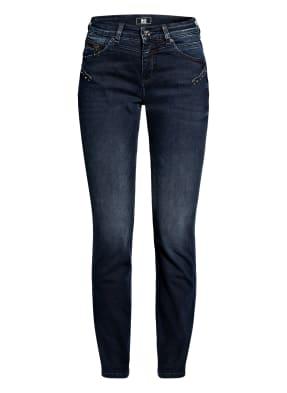 MAC Skinny Jeans mit Schmucksteinbesatz