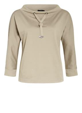 monari Shirt mit 3/4-Arm und Schmucksteinbesatz