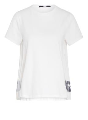 KARL T-Shirt im Materialmix