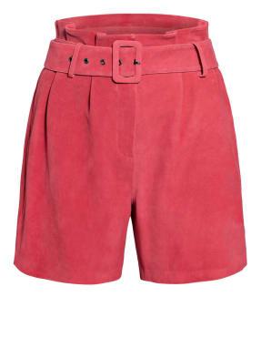 STEFFEN SCHRAUT Paperbag-Shorts aus Leder
