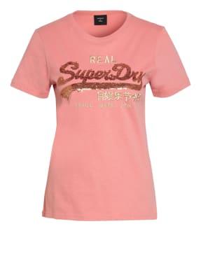 Superdry T-Shirt mit Paillettenbesatz