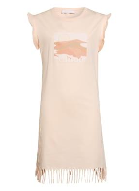 Chloé Jerseykleid mit Fransenbesatz