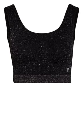GUESS Cropped-Top DARLEEN mit Glanzgarn
