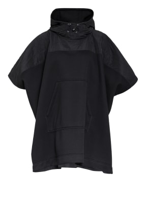 MONCLER Poncho im Materialmix
