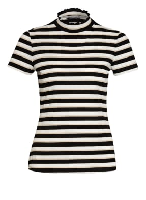 comma T-Shirt mit Glitzergarn
