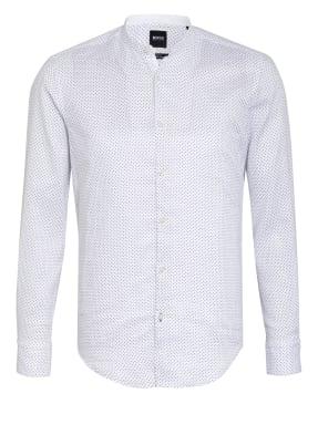 BOSS Leinenhemd ROLFO Slim Fit mit Stehkragen