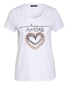 MORE & MORE T-Shirt mit Paillettenbesatz