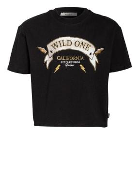 GARCIA Cropped-Shirt mit Paillettenbesatz
