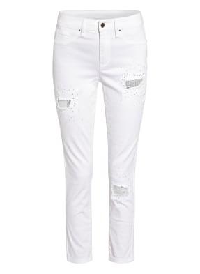 Joseph Ribkoff 7/8-Jeans mit Schmuckstein- und Paillettenbesatz