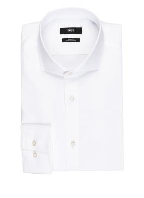 BOSS Piqué-Hemd JASON Slim Fit mit Leinen