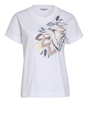PESERICO T-Shirt mit Paillettenbesatz