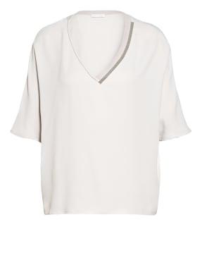 FABIANA FILIPPI Blusenshirt mit Seide und Perlenbesatz