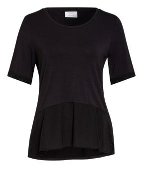 Marc O'Polo Pure T-Shirt mit Seidenbesatz