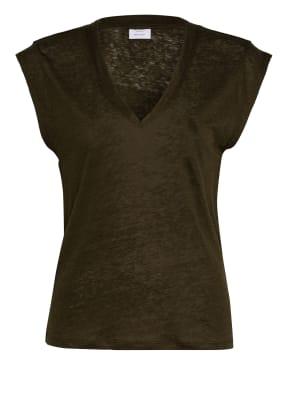 Marc O'Polo Pure T-Shirt aus Leinen mit Seide