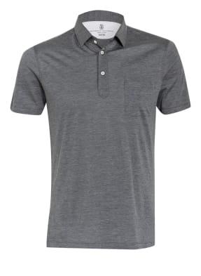 BRUNELLO CUCINELLI Jersey-Poloshirt Slim Fit mit Seide