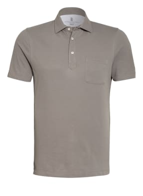 BRUNELLO CUCINELLI Piqué-Poloshirt Extra Slim Fit