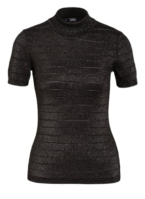KARL LAGERFELD T-Shirt mit Glitzergarn