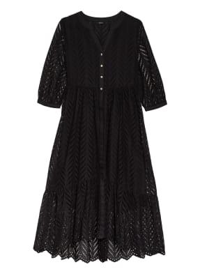 s.Oliver BLACK LABEL Kleid mit Lochspitze und 3/4-Arm