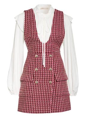 maje Tweed-Kleid RUSSI mit abnehmbarem Blusenshirt