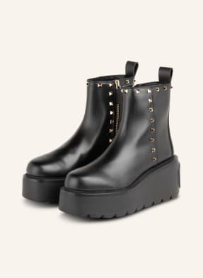 VALENTINO GARAVANI Plateau-Boots mit Nietenbesatz
