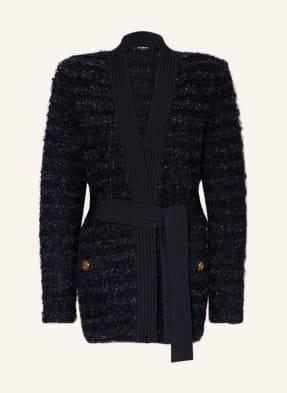 BALMAIN Strickhülle aus Tweed mit Glitzergarn