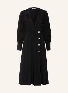 GANNI Kleid in Wickeloptik