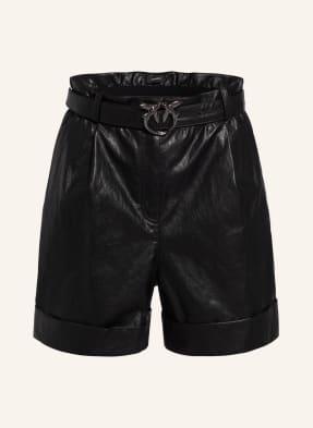 PINKO Paperbag-Shorts LICABETTO in Lederoptik