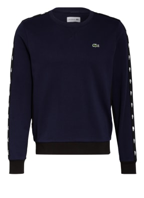 LACOSTE Sweatshirt mit Galonstreifen