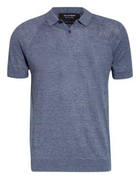 OLYMP SIGNATURE Strick-Poloshirt aus Leinen