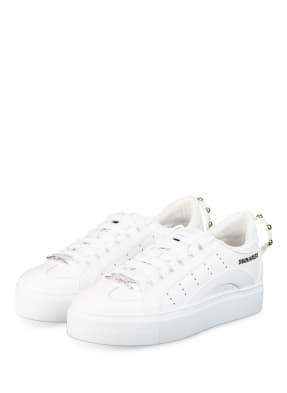 DSQUARED2 Plateau-Sneaker mit Nietenbesatz