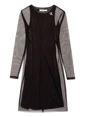 Calvin Klein Jeans Kleid mit Mesh-Besatz