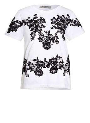 VALENTINO T-Shirt mit Spitzenbesatz
