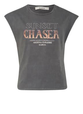 GARCIA T-Shirt mit Nietenbesatz