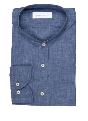 BALDESSARINI Leinenhemd Tailored Fit mit Stehkragen