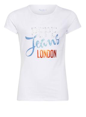 Pepe Jeans T-Shirt KATIA mit Schmucksteinbesatz