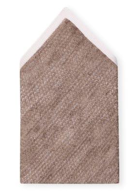 EDUARD DRESSLER Einstecktuch mit Seide und Leinen