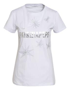 PATRIZIA PEPE T-Shirt mit Glitzergarn