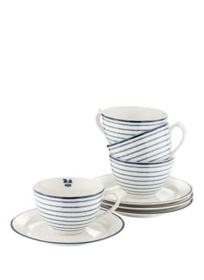 WEGTER 4er-Set Tassen mit Untertasse CANDY STRIPE