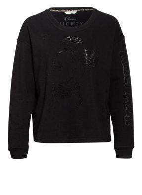FrogBox Sweatshirt mit Schmucksteinbesatz
