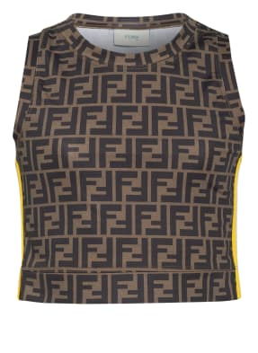FENDI Cropped-Top mit Galonstreifen
