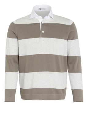 BRUNELLO CUCINELLI Strick-Poloshirt Extra Slim Fit