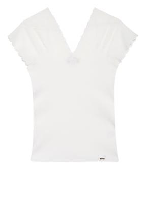 CINQUE T-Shirt mit Spitzeneinsatz