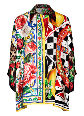 DOLCE&GABBANA Oversized-Hemdbluse aus Seide