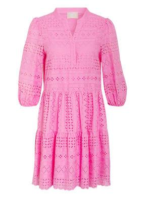 Mrs & HUGS Kleid mit 3/4-Arm und Lochspitze